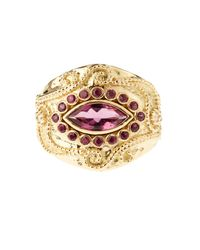 Aurelie Bidermann | Cashmere Rubellite And Ruby Yellow-gold Ring | Lyst