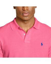 Polo Ralph Lauren - Pink Slim-fit Mesh Polo Shirt for Men - Lyst