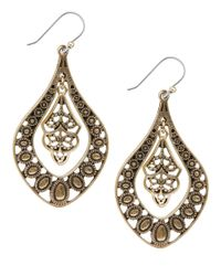 Lucky Brand | Metallic Goldtone Pendant Earrings | Lyst