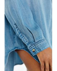 BDG Blue Drapey Chambray Button-down Shirt