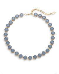 Cara | Blue Bezel Strand Necklace | Lyst