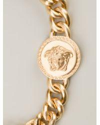 Versace   Metallic Medusa Pendant Necklace   Lyst