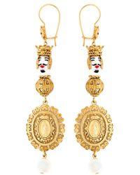 Dolce & Gabbana | Metallic Marionette Filigree Earrings | Lyst