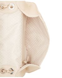 DKNY - Natural Gansevoort Quilted Nappa Leather Round Crossbody - Lyst