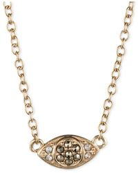 Judith Jack Metallic Crystal And Marcasite Evil Eye Pendant Necklace