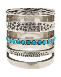 Pamela Love | Blue Single Cage Ring | Lyst