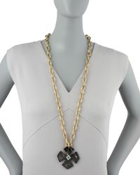 Ashley Pittman - Brown Kimalta Pendant Dark Horn - Lyst