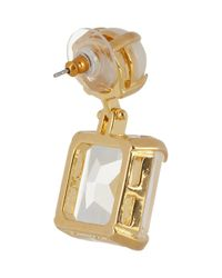 Lele Sadoughi - White Solar Goldplated Faux Pearl and Crystal Earrings - Lyst