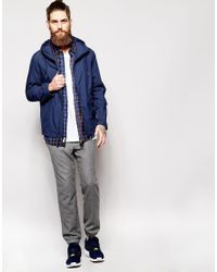 Timberland Blue Jacket With Hood for men