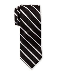 Isaac Mizrahi New York - Black Fine Stripe Tie for Men - Lyst