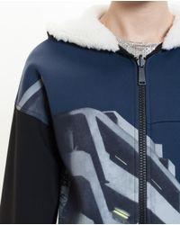 Paco Rabanne - Black Urban Printed Hooded Sweatshirt - Lyst