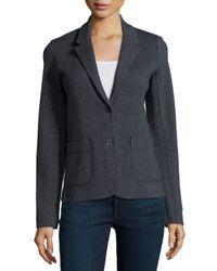Neiman Marcus - Gray Two-button Wool Blazer - Lyst