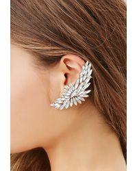 Forever 21 | Metallic Rhinestone Petal Ear Cuffs | Lyst