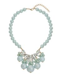 Mikey | Blue Large Beads Stone Pendant Necklace | Lyst