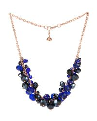 Ted Baker - Blue Bead Cluster Necklace - Lyst