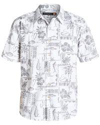 Quiksilver White Waterman Short-sleeve Seagate Shirt for men