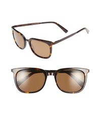 Ted Baker Black 53mm Retro Polarized Sunglasses for men