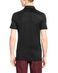 HUGO Black 'desper' | Slim Fit, Mercerized Cotton Vegan-trim Polo for men