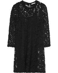 Étoile Isabel Marant - Black Dahlia Cotton-blend Guipure Lace Mini Dress - Lyst