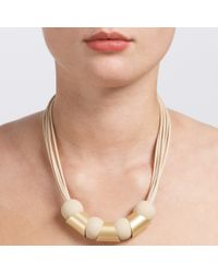 John Lewis | Metallic Mixed Shapes Cord Necklace | Lyst