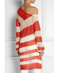 Acne Studios - Red Oil K Striped Openknit Mohairblend Sweater - Lyst