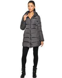 Add Gray Waterproof Hooded Long Down Jacket