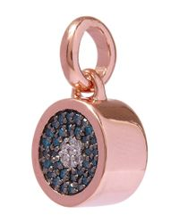 Monica Vinader - Blue And White Diamond Evil Eye Rose Gold Pendant - Lyst