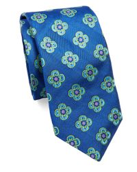 Ted Baker - Blue Neat Floral Silk Tie for Men - Lyst