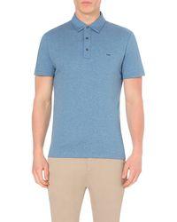 Michael Kors | Blue Slim-fit Cotton-jersey Polo Shirt - For Men for Men | Lyst
