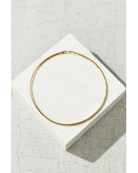 Urban Outfitters - Metallic Metal Choker Necklace - Lyst