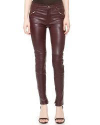 BLK DNM Purple Stretch Leather Biker Pants 1 - Black