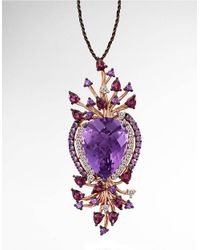 Le Vian | Pink Amethyst And 14k Strawberry Gold Pendant Necklace | Lyst