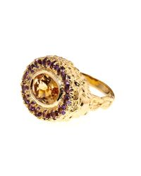 Jade Jagger | Red Citrine & Amethyst Gold-Plated Ring | Lyst