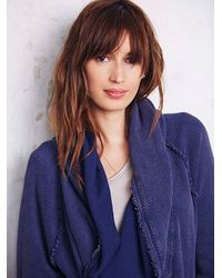 Free People - Blue Womens Big Chill Cardi - Lyst