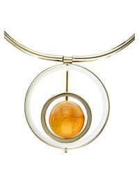 Marni | Yellow Horn, Leather And Metal Necklace | Lyst