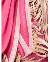 Antonia Zander | Pink Fringed Shawl | Lyst