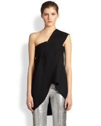 CoSTUME NATIONAL | Black Asymmetrical Strap Top | Lyst