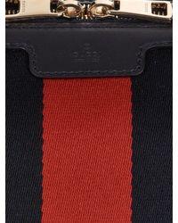 Gucci Gray Vintage Web Gg Canvas Mini Bowling Bag