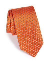 Ted Baker | Orange 'micro Links' Silk Tie for Men | Lyst