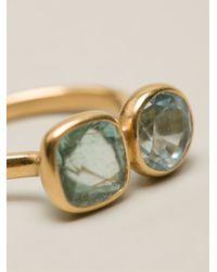 Marie-hélène De Taillac | Metallic Faceted Double Stone Ring | Lyst