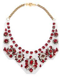Shourouk | Red 'primavera' Necklace | Lyst