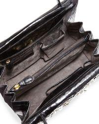 Nancy Gonzalez - Black Floral-embellished Crocodile Tote Bag - Lyst