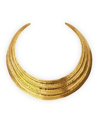 Herve Van Der Straeten Metallic Salome Gold Collar Necklace
