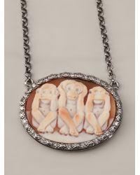 Amedeo - Orange Three Monkey Necklace - Lyst