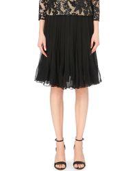 Diane von Furstenberg | Black Addyson Silk-chiffon Skirt | Lyst