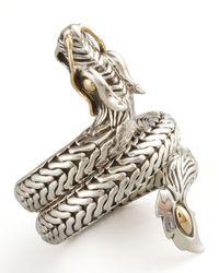 John Hardy - Metallic Naga Dragon Coil Ring for Men - Lyst
