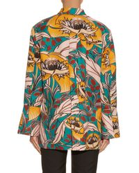 Marni   Multicolor Bellwoods-Print Cotton and Linen-Blend Jacket   Lyst