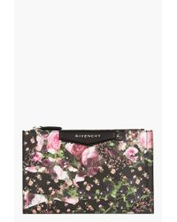 Givenchy | Pink Pebbled Floral Camo Antigona Zip Pouch | Lyst
