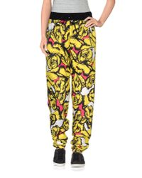 .8! Point Huit Yellow Casual Trouser