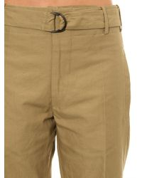 Isabel Marant | Natural Onos Cotton-Blend Cropped Trousers | Lyst